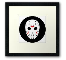 Halloween Hockey Mask Jason Friday 13th Ideology Framed Print