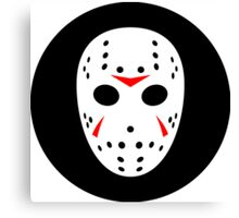 Halloween Hockey Mask Jason Friday 13th Ideology Canvas Print