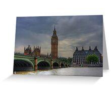 WESTMINSTER BRIDGE - LONDON Greeting Card