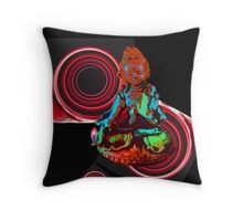 Red Tara with portals and flames. Throw Pillow