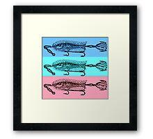 vintage fish art design Framed Print