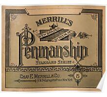 Merrill's Penmanship Primer, 1887 Poster