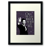 Once one goes Batch, one never goes back. Framed Print