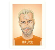Bruce Willis, Hollywood star in The Fifth Element  Art Print