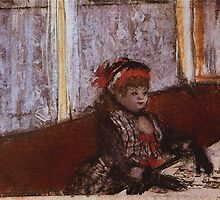 Edgar Degas French Impressionism Oil Painting Girl Eating by jnniepce