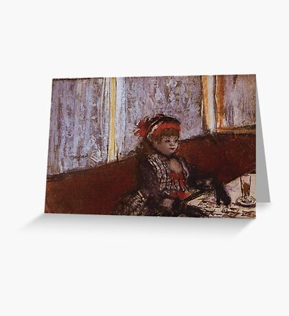 Edgar Degas French Impressionism Oil Painting Girl Eating Greeting Card