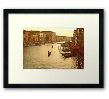 Venice, View from the Rialto Bridge Framed Print