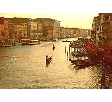 Venice, View from the Rialto Bridge Photographic Print