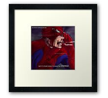 Hero Thoughts: Spider-Man Edition Framed Print