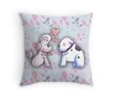 Butch and Muffin Throw Pillow