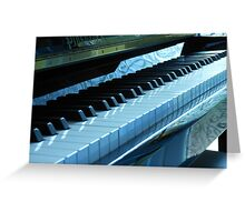 Blue Piano Keys Greeting Card