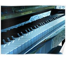 Blue Piano Keys Poster