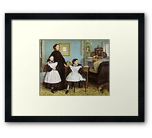 Edgar Degas French Impressionism Oil Painting Family Framed Print