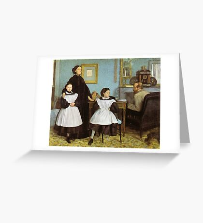 Edgar Degas French Impressionism Oil Painting Family Greeting Card