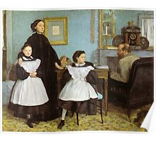 Edgar Degas French Impressionism Oil Painting Family Poster