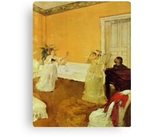 Edgar Degas French Impressionism Oil Painting Girls Singing Canvas Print