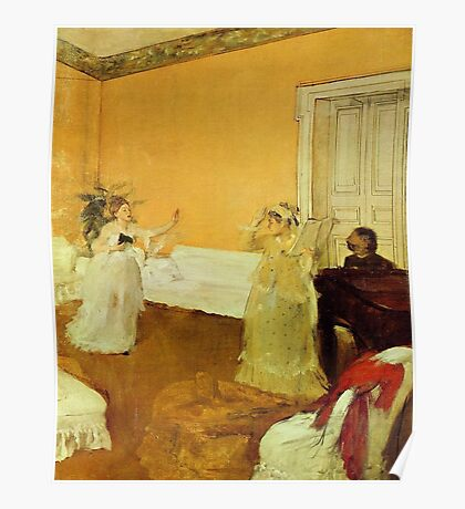 Edgar Degas French Impressionism Oil Painting Girls Singing Poster