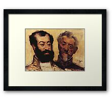 Edgar Degas French Impressionism Oil Painting Bearded Men Framed Print