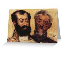 Edgar Degas French Impressionism Oil Painting Bearded Men Greeting Card