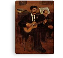 Edgar Degas French Impressionism Oil Painting Playing Guitar Canvas Print