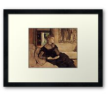Edgar Degas French Impressionism Oil Painting Woman Sitting Framed Print