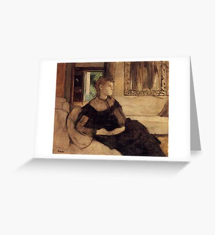 Edgar Degas French Impressionism Oil Painting Woman Sitting Greeting Card