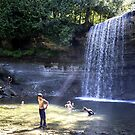 A Hot Summer Day at the Falls by Mikell Herrick