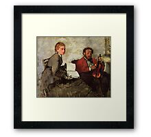 Edgar Degas French Impressionism Oil Painting Violin Framed Print
