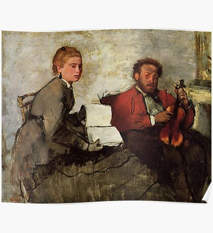 Edgar Degas French Impressionism Oil Painting Violin Poster