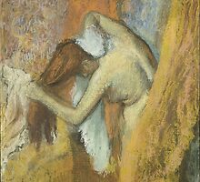 Edgar Degas French Impressionism Oil Painting Woman Bathing by jnniepce