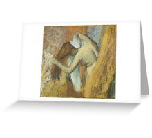 Edgar Degas French Impressionism Oil Painting Woman Bathing Greeting Card