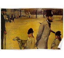 Edgar Degas French Impressionism Oil Painting Childern Dog Poster