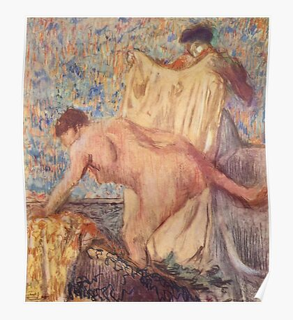 Edgar Degas French Impressionism Oil Painting Woman Bathing Poster