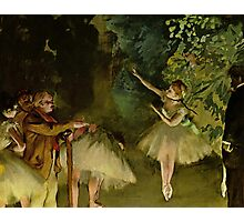 Edgar Degas French Impressionism Oil Painting Ballerinas Dancing Photographic Print