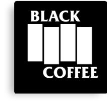Black Flag Coffee  Canvas Print