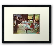 Edgar Degas French Impressionism Oil Painting Dance School Framed Print