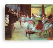 Edgar Degas French Impressionism Oil Painting Dance School Canvas Print