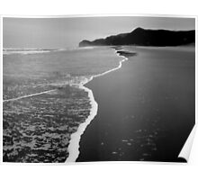 Piha In Black and White Poster