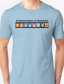 6 Generations of Cuteness: Basic T-Shirt