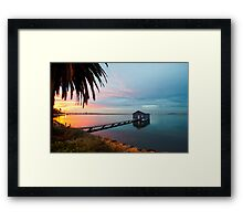 Ahh... The Serenity... Crawley Boat Shed at Sunrise Framed Print