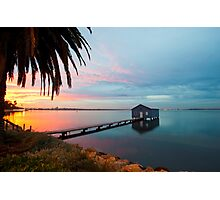 Ahh... The Serenity... Crawley Boat Shed at Sunrise Photographic Print