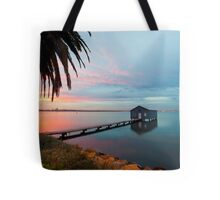 Ahh... The Serenity... Crawley Boat Shed at Sunrise Tote Bag