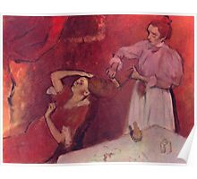 Edgar Degas French Impressionism Oil Painting Brushing Hair Poster