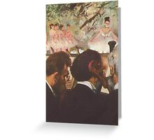 Edgar Degas French Impressionism Oil Painting Ballerinas Performing Greeting Card