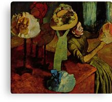 Edgar Degas French Impressionism Oil Painting Womens Hats Canvas Print