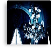 Blue Chandelier, Nursery Art Canvas Print