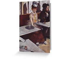 Edgar Degas French Impressionism Oil Painting Sad Woman Greeting Card