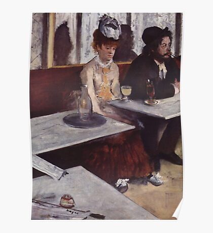 Edgar Degas French Impressionism Oil Painting Sad Woman Poster