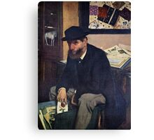 Edgar Degas French Impressionism Oil Painting Man Sitting Canvas Print