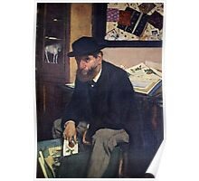 Edgar Degas French Impressionism Oil Painting Man Sitting Poster